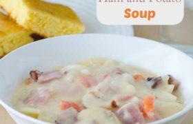 Easy POtato and Ham Soup | realmomkitchen.com