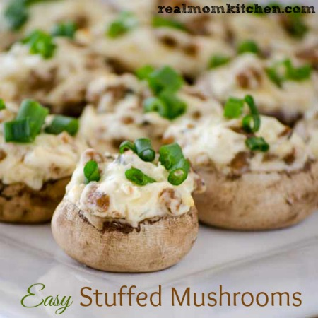 Easy Stuffed Mushrooms   realmomkitchen.com