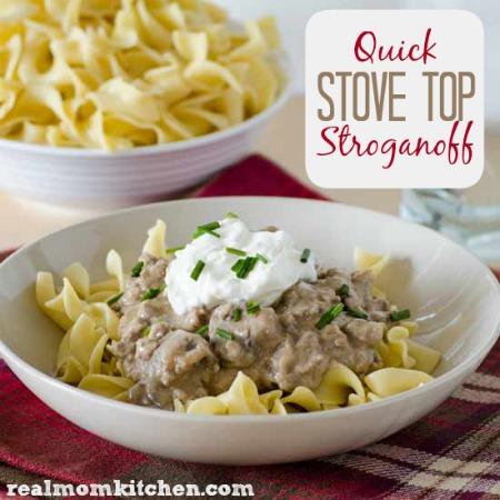 Quick Stove Top Stroganoff | realmomkitchen.com