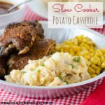 Slow Cooker Potato Casserole | realmomkitchen.com