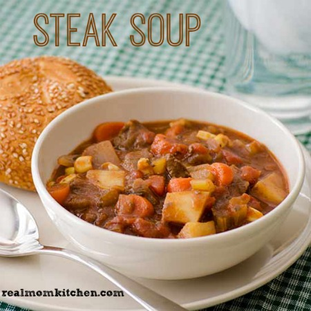 Steak Soup | realmomkitchen.com