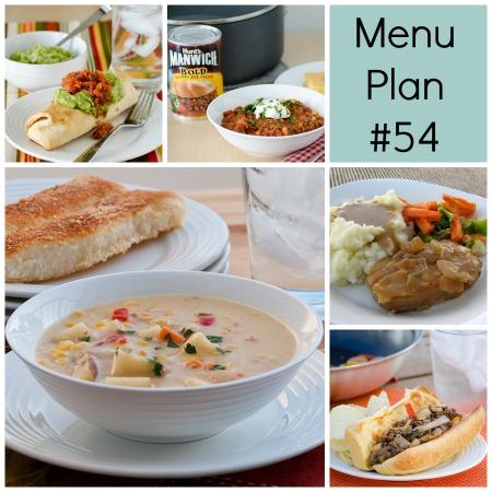 menu plan 54