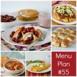 menu plan week 55