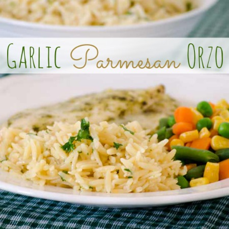 Garlic Parmesan Orzo | realmomkitchen.com