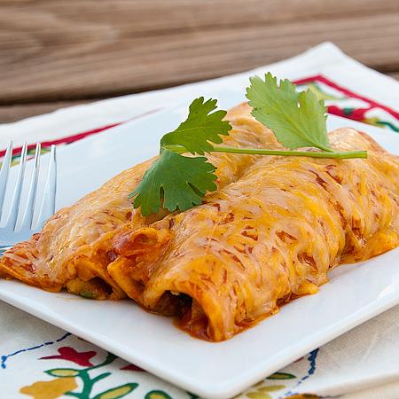 Guacamole Chicken Enchiladas