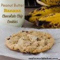 Peanut Butter Banana Chocolate Chip Cookies | realmomkitchen.com
