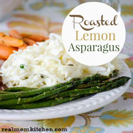Roasted Lemon Asparagus | realmomkitchen.com