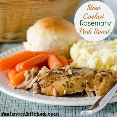 Slow Cooked Rosemary Pork Roast | realmomkitchen.com