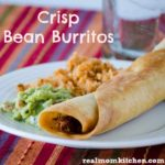 Crisp Bean Burritos | realmomkitchen.com