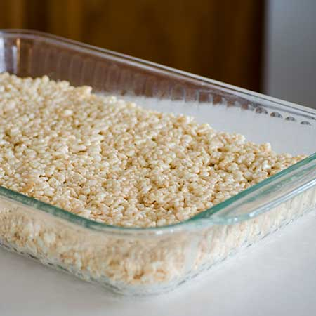 Garden Party Garland Rice Krispies in Pan