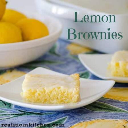 Lemon Brownies | realmomkitchen.com