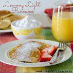 Lemony Light Pancakes | realmomkitchen.com