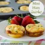 Mini Ham Quiches | realmomkitchen.com