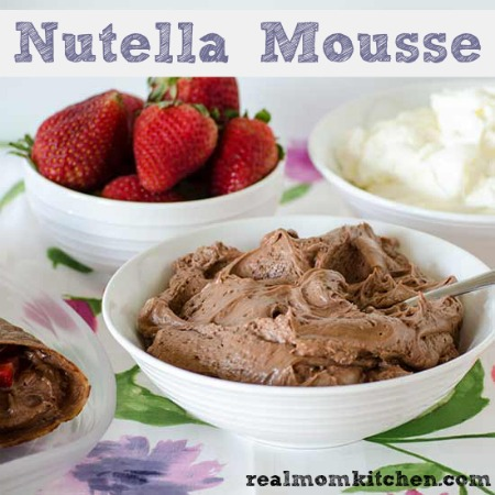 Nutella Mousse |realmomkitchen.com