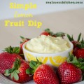 Simple Lemon Fruit Dip | realmomkitchen.com
