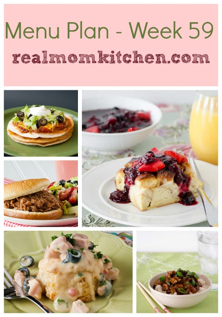 Menu Plan Monday – Week 59