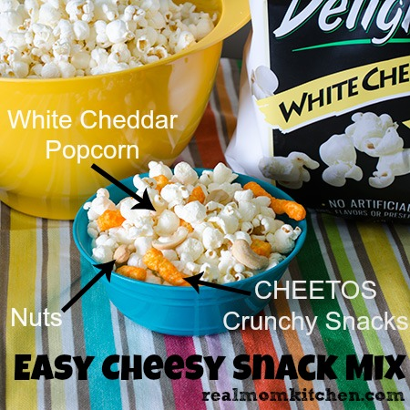 Easy Cheesy Snack Mix #SmartfoodDelight