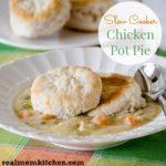 Slow Cooker Chicken Pot Pie | realmomkitchen.com