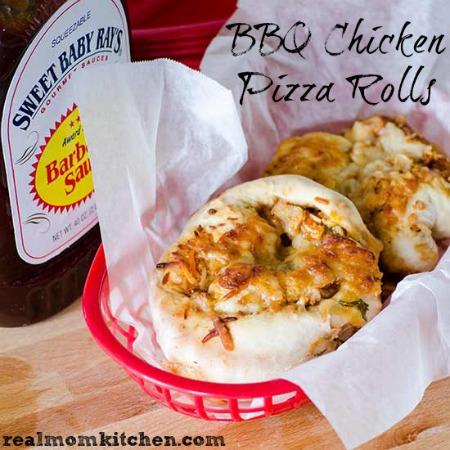 BBQ Chicken Pizza Rolls   realmomkitchen.com