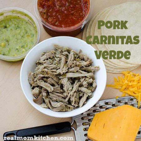 Pork Carnitas Verde | realmomkitchen.com