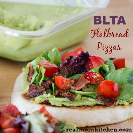 BLTA Flatbread Pizzas | realmomkitchen.com