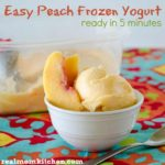 Easy Peach Frozen Yogurt | realmomkitchen.com