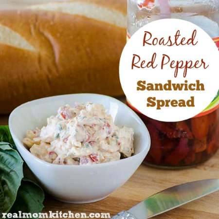 Roasted Red Pepper Sandwich Spread | realmomkitchen.com
