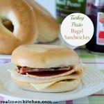 Turkey Pesto Bagel Sandwiches | realmomkitchen.com