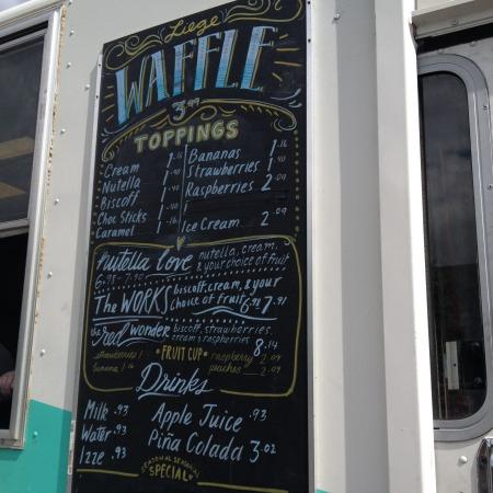 waffle love menu