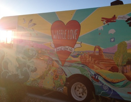 waffle love truck evening