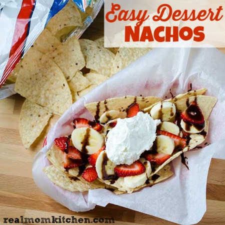 Easy Dessert Nachos | realmomkitchen.com #TostitosLaborDay