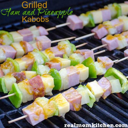 Grilled Ham and Pineapple Kabobs | realmomkitchen.com