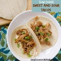 Slow Cooker Sweet and Sour Tacos labeled