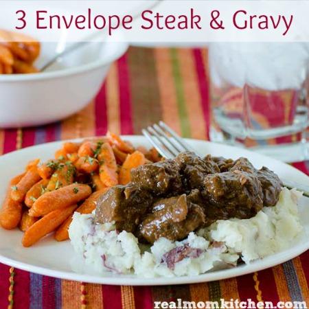 3 Envelope Steak and Gravy | realmomkitchen.com