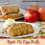 Apple Pie Egg Rolls   realmomkitchen.com