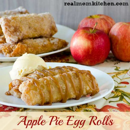 Apple Pie Egg Rolls Realmomkitchen Com