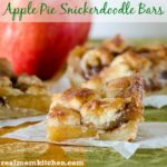 Apple Pie Snickerdoodle Bars | realmomkitchen.com