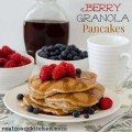 Berry Granola Pancakes | realmomkitchen.com