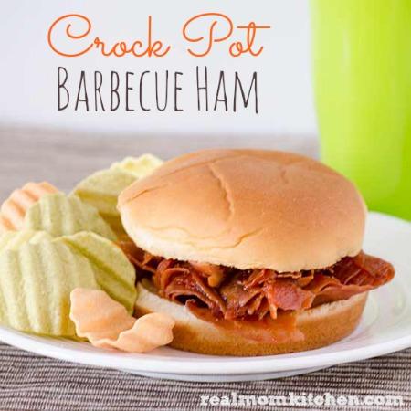 Crock Pot Barbecue Ham | realmomkitchen.com