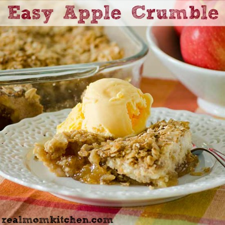Easy Apple Crumble | realmomkitchen.com