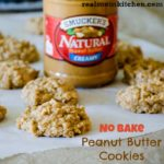 No Bake Peanut Butter Cookies | realmomkitchen.com