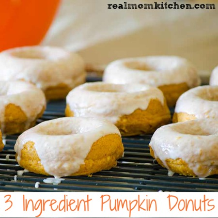 3 Ingredient Pumpkin Donuts | realmomkitchen.com