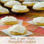 Melt In Your Mouth Pumpkin Cookies | realmomkitchen.com