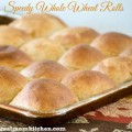 Speedy Whole Wheat Rolls | realmomkitchen.com