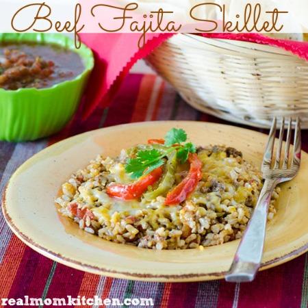 Beef Fajita Skillet | realmomkitchen.com