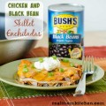 Chicken and Black Bean Skillet Enchiladas | realmomkitchen.com