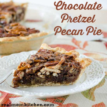 Chocolate Pretzel Pecan Pie | realmomkitchen.com