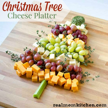 Christmas Tree Cheese Platter | Real Mom Kitchen