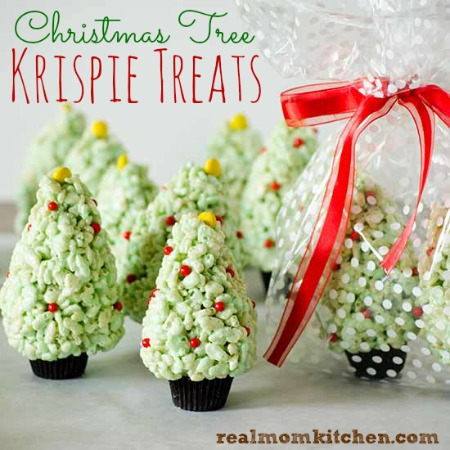Christmas Tree Krispie Treats | realmomkitchen.com