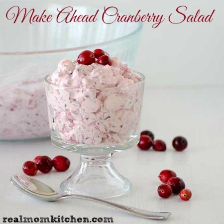 Make Ahead Cranberry Salad | realmomkitchen.com